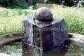 Pool Centerpiece black Granite Sphere on Solid Black Granite Base  3