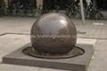 Pool Centerpiece black Granite Sphere on Solid Black Granite Base  5