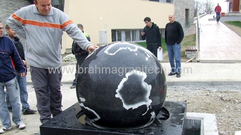 Pool designs with marble Sphere and Base Centerpiece 1