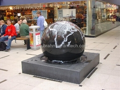 largest black granite sphere fountain