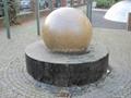 largest black granite sphere fountain  5