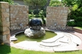 Gray granite Sphere with on rock solid base  4