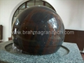 Gray granite Sphere with on rock solid base  5