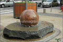 granite memorial ball,sphere monument,globe monument