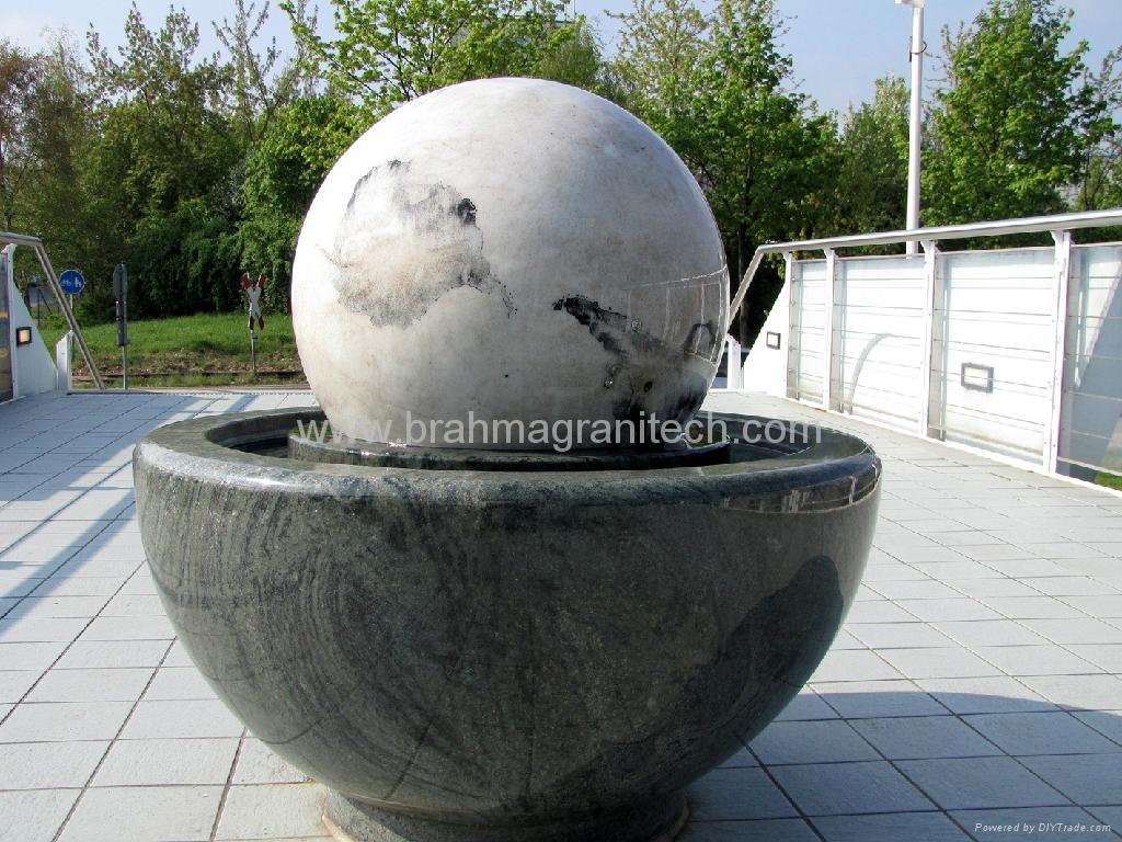 stone sphere fountains ,water ball fountain 4