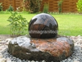 stone ball water Fountain for garden,sphere water fountain 3