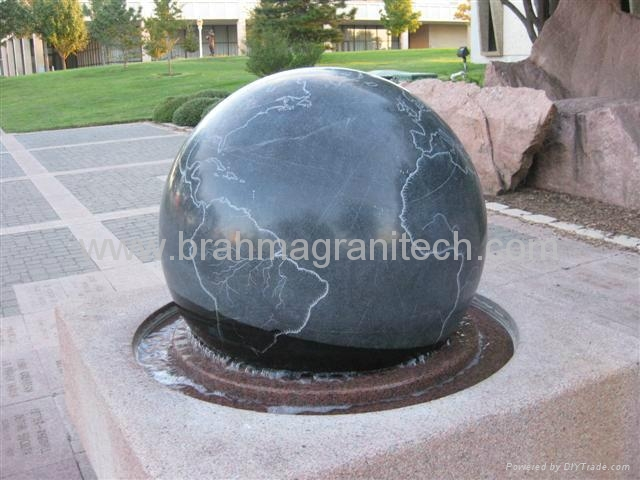 stone ball water Fountain for garden,sphere water fountain 5