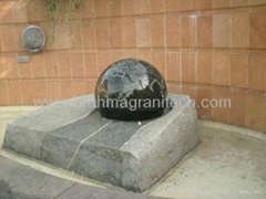 stone ball water Fountain for garden,sphere water fountain