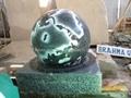 polished black granite ball