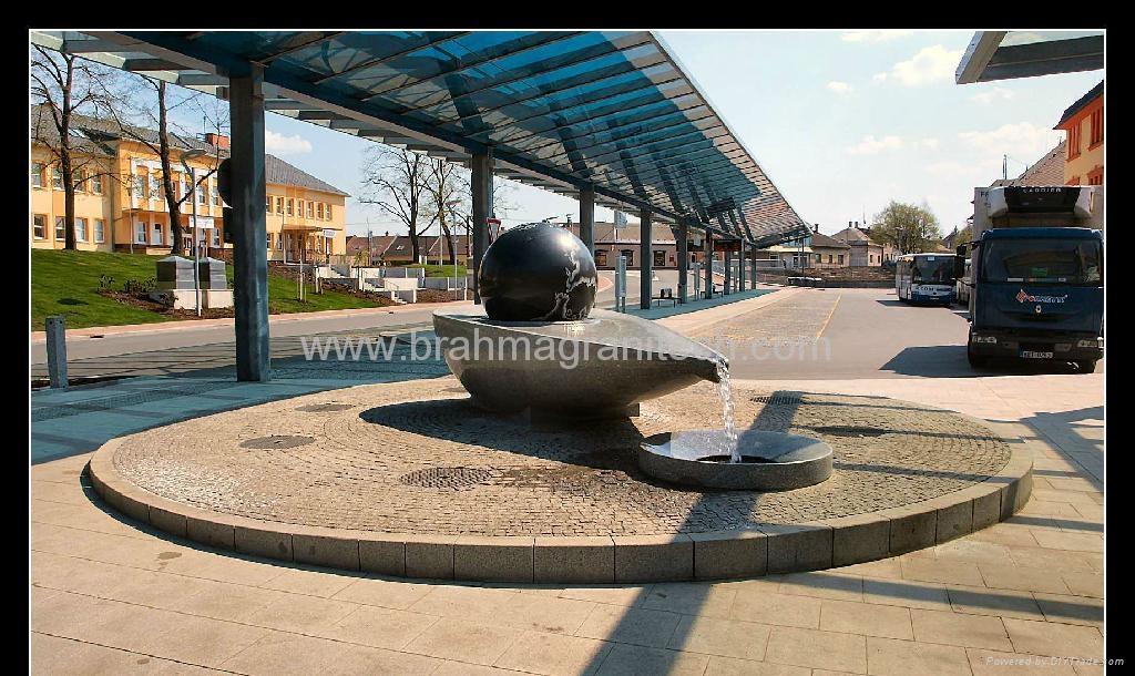 limestone ball fountain.sphere fountain,ball fountain 5