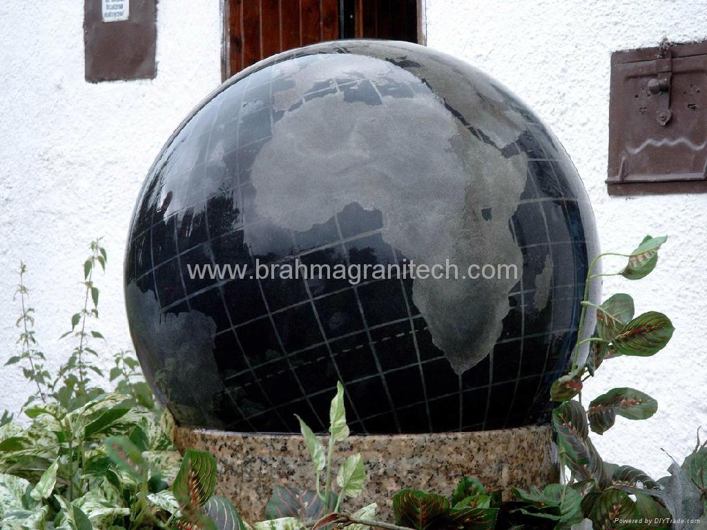 large stone ball fountain,giant ball sphere globe fountain  3