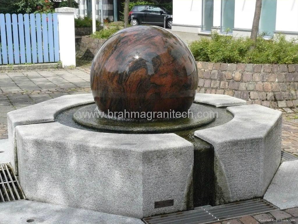 Granite sphere fountains,garden fountain,rock water feature 2