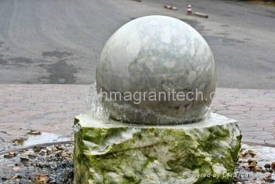 sphere water fountain,sphere water features,globe water features 4