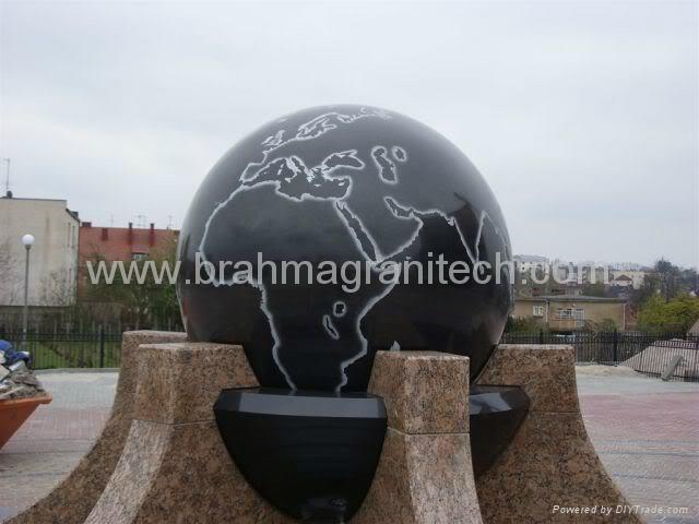 BLACK GALAXY BALL SPHERE FOUNTAIN 4