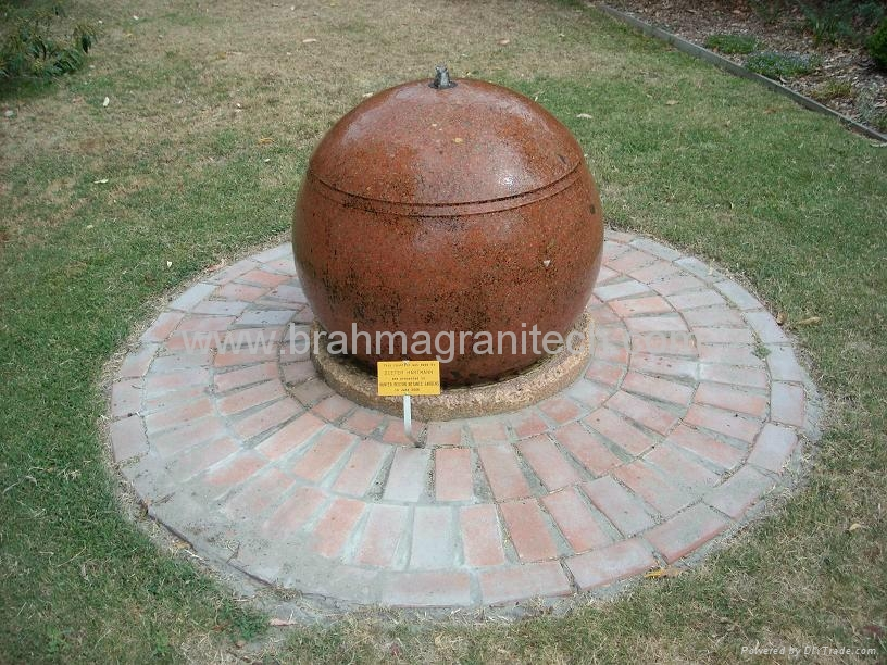 Revo  ing sphere fountain,rotating ball water features,spinning stone ball 4
