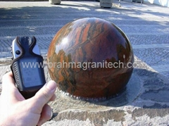 Revolving sphere fountain,rotating ball water features,spinning stone ball