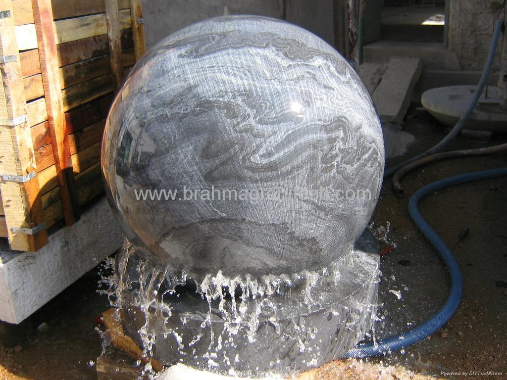 Marmorkugel brunnen,Brunnenkugeln,kugelbrunnen stein 1