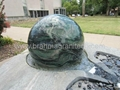 rotating garden ball sphere,garden water feature,stone ball 4
