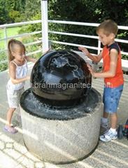 rotating garden ball sphere,garden water feature,stone ball