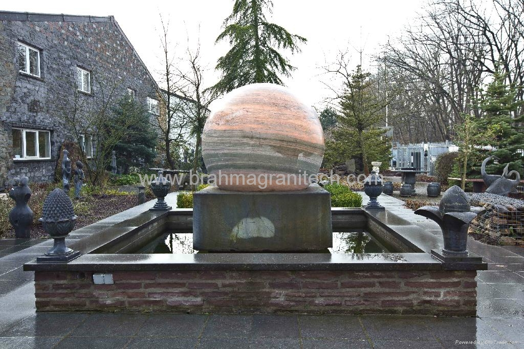Granite Ball Water Feature Sphere Fountain Granite Ball Water Feature India Manufacturer