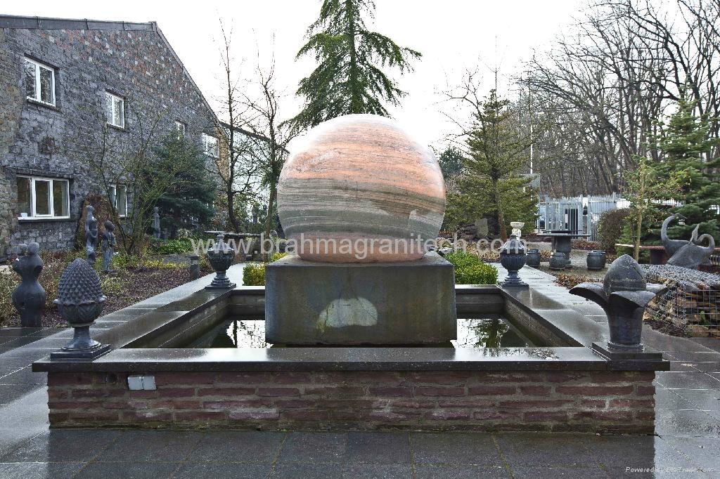 Sphere Bollards,stone balls,stone Bollards globes 7