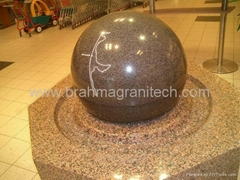 floating ball water features,stone water features