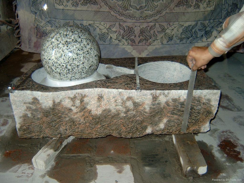 kugelbrunnen steinkugel  marmorkugel  kugeln 2