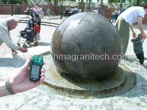 black sphere fountains,stone rotate ball fountain 4