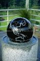 marble ball water feature sphere