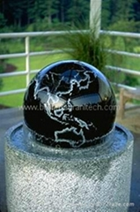 marble ball water feature sphere fountains Granit Kugelbrunnen