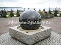 black ball fountain,black stone ball