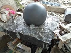tuin bal fontein in denemarken,granitkugel,steinkugel