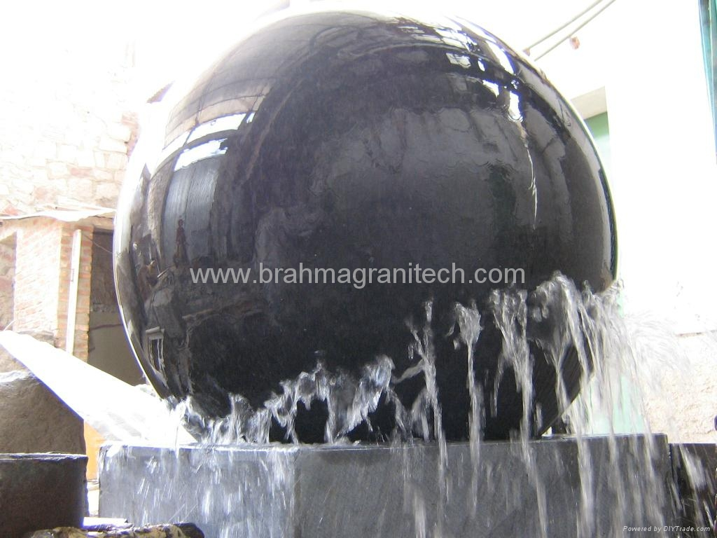 turning ball fountains,sphere water fountain 5