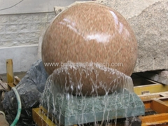 blue pearl sphere fountain ball,granite stone ball fountain