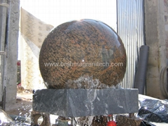 white floating granite spheres,ball fountain