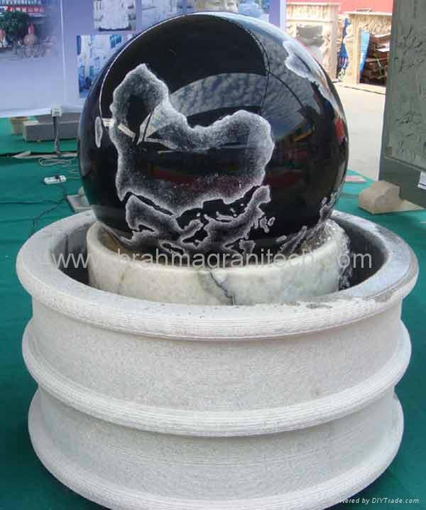 white floating granite spheres,ball fountain 4
