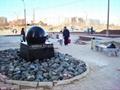 white floating granite spheres,ball fountain 5