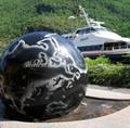 white floating granite spheres,ball fountain 2