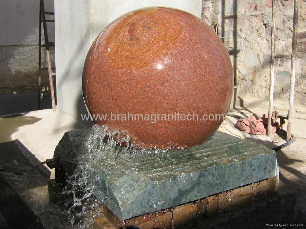 granito sfera fontana