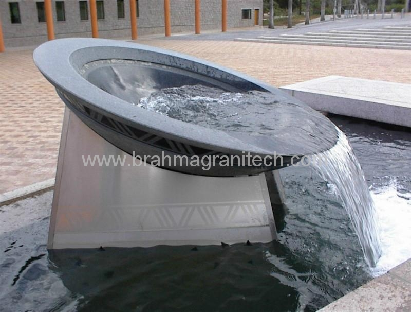 Large Stone Bowl Fountain Water