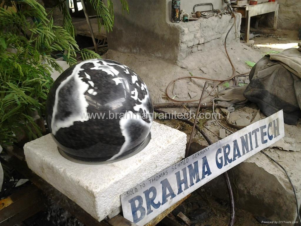 granite globe fountain