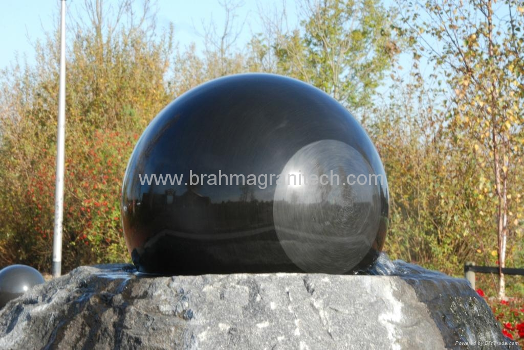 granite ball,spinning ball fountain,spinning sphere water feature fountain 3