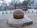 granite ball,spinning ball fountain,spinning sphere water feature fountain 4