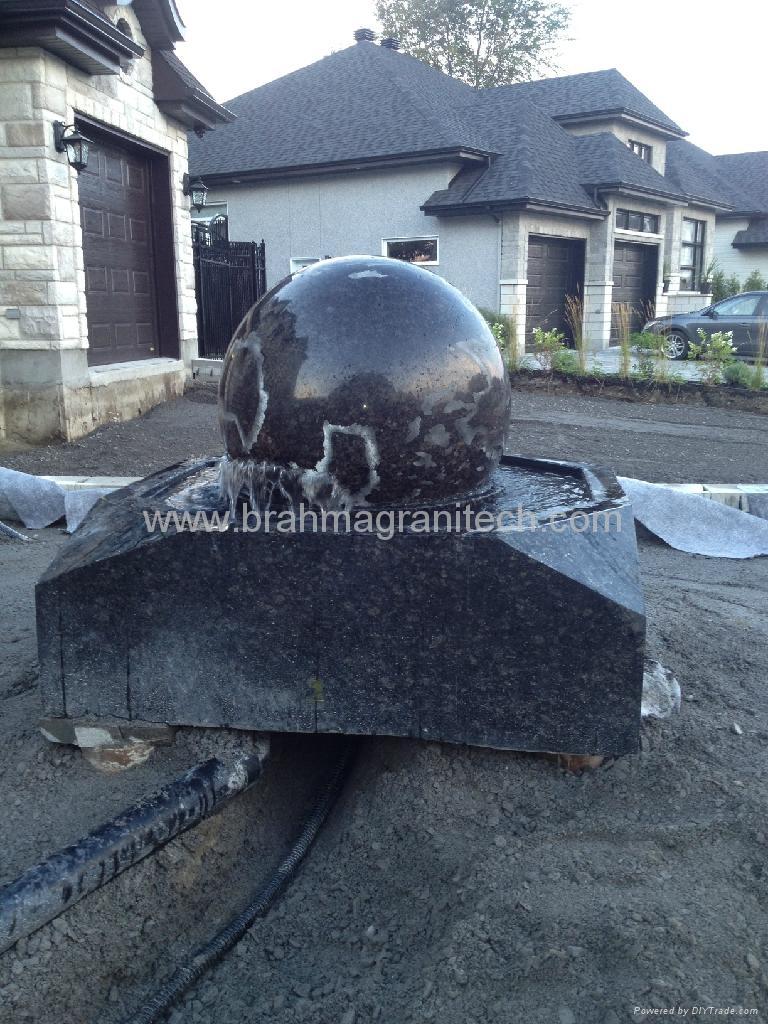 kugelbrunnen mit drehender kugel 3