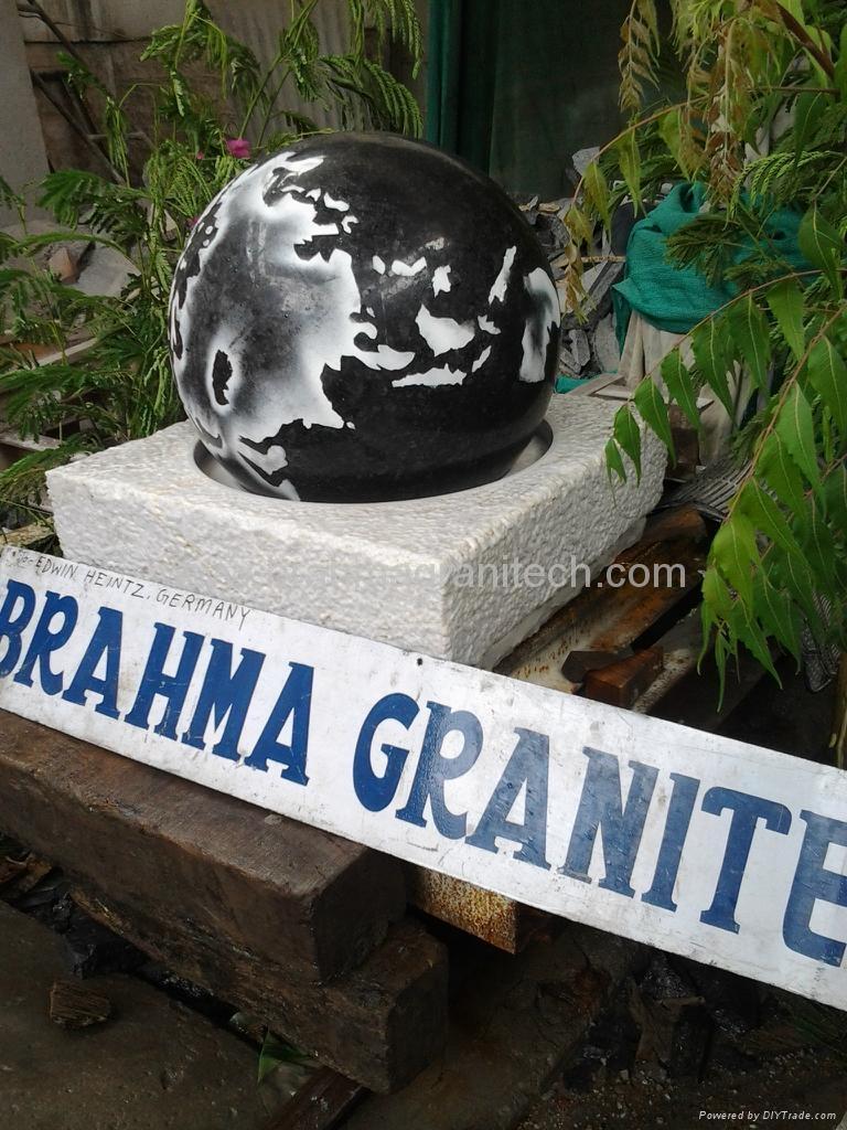 spherical ball fountains,granite globe fountain  1