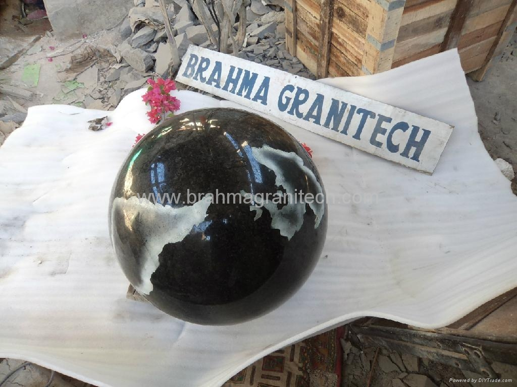 Granite globes,floating stone globe,globe water feature 4