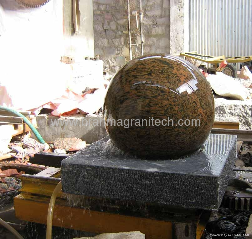 granite ball fountain