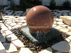 landscape stone ball water feature