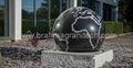 brown stone ball sphere globe,granite globe 3