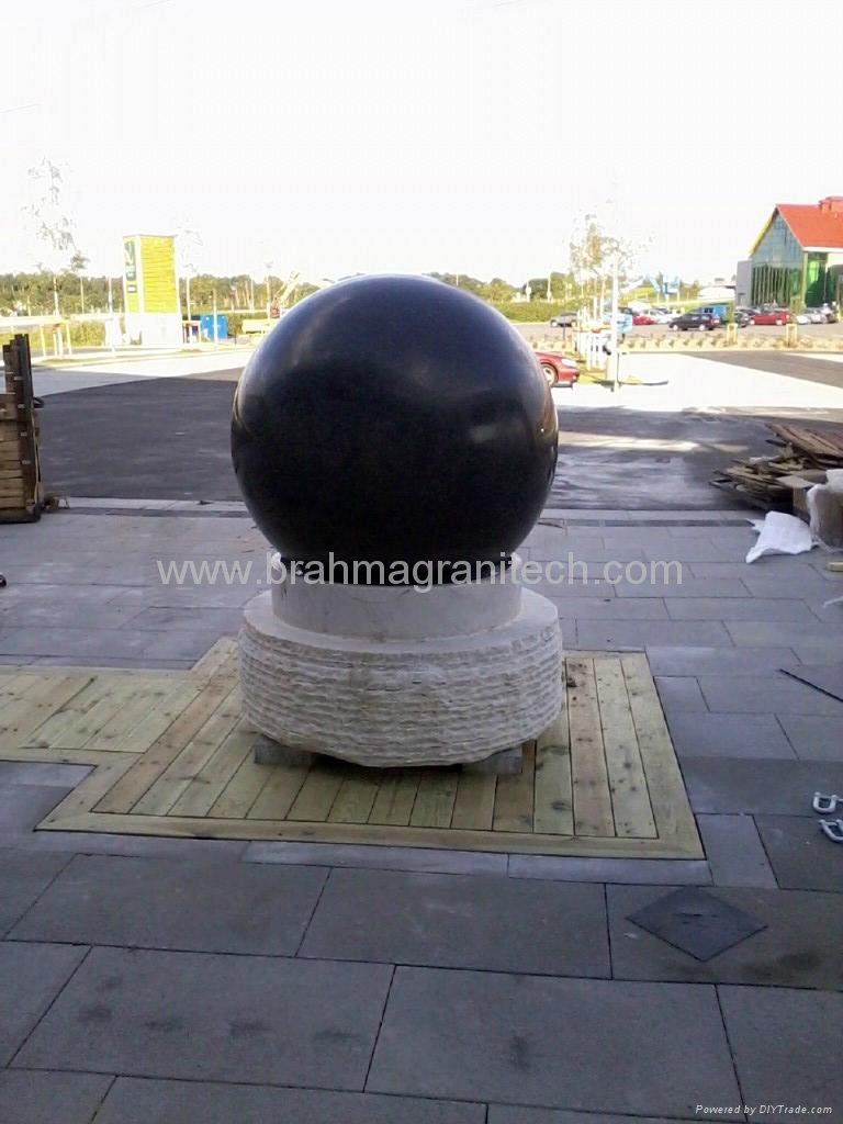 brown stone ball sphere globe,granite globe 4
